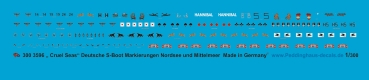 "Peddinghaus-Decals 1/300 3596 "" Cruel Seas"" german S-Boot markings Nordsea and Baltic Sea"