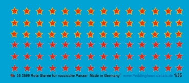 Peddinghaus-Decals 1/35 3599 Red stars for russian Tanks