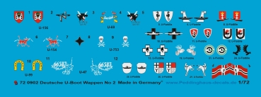 Peddinghaus 1/72 0902  german submarine heraldic, unit markings and flags no 2