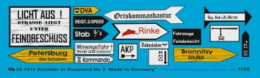 Peddinghaus 1/35 1511  Roadsigns russia No 3