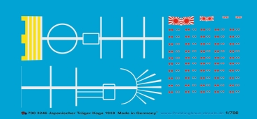 Peddinghaus-Decals 1:700 3246 Japonese carrier Kaga 1930