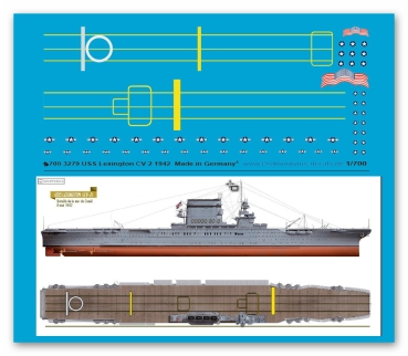 Peddinghaus-Decals 1:700 3279 USS Carrier Lexington CV 2