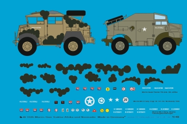 Peddinghaus-Decals 1/48 3326 Morris Gun Tractor Africa und Normandy with Mickymouse camouflage