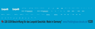 Peddinghaus-Decals  1:220 3339 gauge Z markings for the Leopold Railway gun