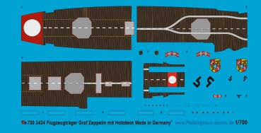 Peddinghaus 1/700 3434 german carrier Graf Zeppelin with wooden flightdeck