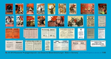 Peddinghaus-Decals 1/48 3610 Russian Propagandposter and german wall annoucments