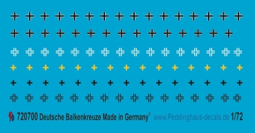 Peddinghaus-Decals 1/72 0700 Iron crosses for tanks of the Wehrmacht