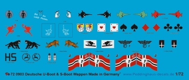 Peddinghaus 1/72 0903  german S-Boat heraldic, unit markings and flags