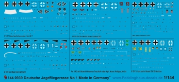 Peddinghaus-Decals 1:144 0939 5 german airforce aces