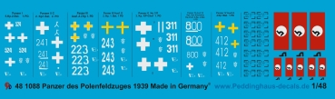 Peddinghaus-Decals 1/48 1088  german tanks of the polish campain
