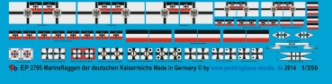 Peddinghaus 1/350 2795  Flags for german ships of the Imperial Navy