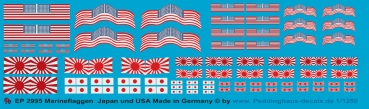 Peddinghaus 1/1250 2995 ensigns of the US Navy and the Japonese Imperial Navy