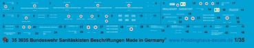 Peddinghaus 1/35 3035 Box markings for german fieldhospital suitable for Black Dog 35067