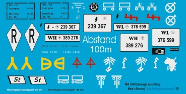 Peddinghaus-Decals 1:9  3094 markings for the Kübelwagen old Esci or Revell Model