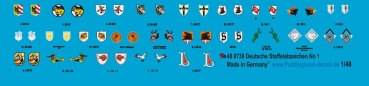 Peddinghaus-Decals 1/48 0730 German Luftwaffe different unit signs No 1