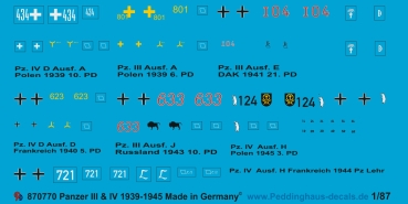 Peddinghaus 1/87 0770 Mark  III and Mark IV markings 1939-45