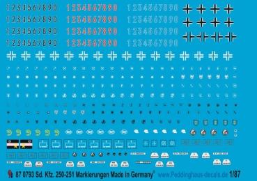 Peddinghaus Decals 1//87 1155 Preussischer Wagonadler