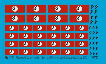 Peddinghaus-Decals 1:72  0951  recce flags for tanks and vehicles