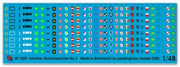 Peddinghaus-Decals 1/48 1059  German Infantry Division markings No 3