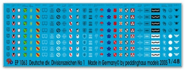 Peddinghaus-Decals 1/48 1063 german divison markings misc. Units No 1