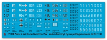 Peddinghaus-Decals 1/48 1080 Panzer IV H in the Normandy