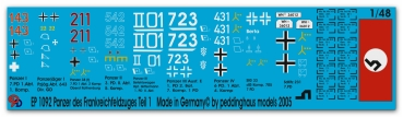 Peddinghaus-Decals 1/48 1092 german tanks of the french campaign No 1