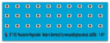 Peddinghaus-Decals 1:87  1155  Prussian Wagoneagle