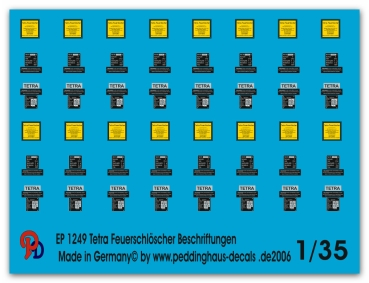 Peddinghaus 1/35 1249  markings for Tetra fireextingwisher for german tanks