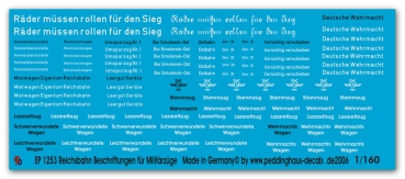 Peddinghaus Decals 1//160 2589 BR 52 Kriegslok Beschriftungen