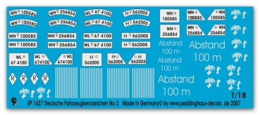 Peddinghaus 1/18 1427 german numberplates no 2