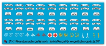 Peddinghaus 1/35 1473  Motocycles numberplates of the german army