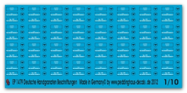 Peddinghaus 1/10 1479 markings for german handgrenades