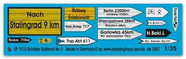 Peddinghaus 1/35 1510  Roadsigns russia No 2