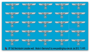 Peddinghaus-Decals 1:43 1562  Reichsbahn steamereagles