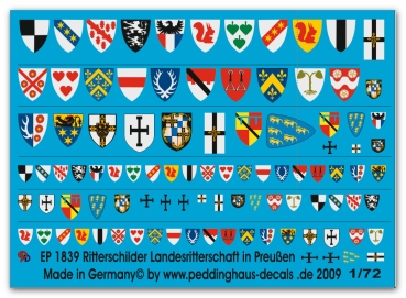Knight shields of prussia