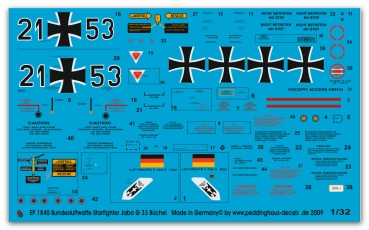 Peddinghaus 1/32 1840  german airforce Starfighter Jabo G 33 Büchel