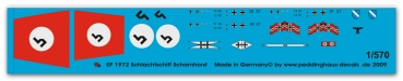 1972 Battelship Scharnhorst markings