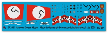 Peddinghaus 1/350 2034  Heavy cruiser Hipper markings