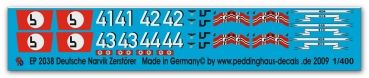 Peddinghaus 1/400 2038  German Narvik destreuers  4 different versions
