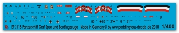 Peddinghaus 1/400 2115  Pocketbattleship Graf Spee markings