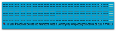 Peddinghaus-Decals 1/100 2180 World of Flames Cufftitles of the Waffen SS and Wehrmacht