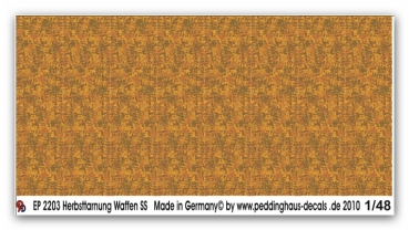 Peddinghaus-Decals 1/48 2203 Camo smoke autum Waffen SS