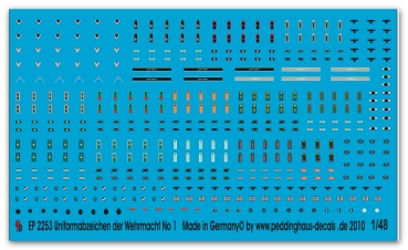 Peddinghaus-Decals 1/48 2253 Uniform insignia of the Wehrmacht No 1
