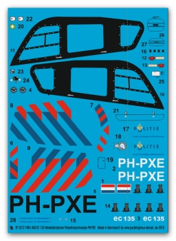 Peddinghaus 1/14 2273 EC 135 Dutch Police Helicopter PH-PXE