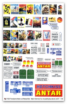 Peddinghaus-Decals 1/100 2307 Flames of War French Road signs and poster