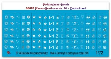 German divisonal markings No 5