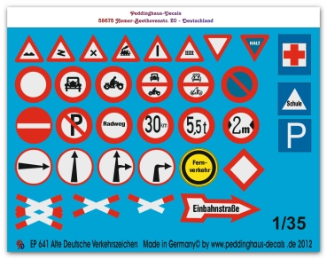 Peddinghaus 1/35 0641  German Roadsigns early version