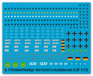 Peddinghaus-Decals 1/72 0695 Modern german Army iron crosses, road class signs, tactical markings