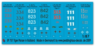 Peddinghaus 1/87 0757 Tiger markings for Russian campaign