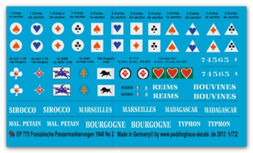 French tank markings 1939-1940 No 2